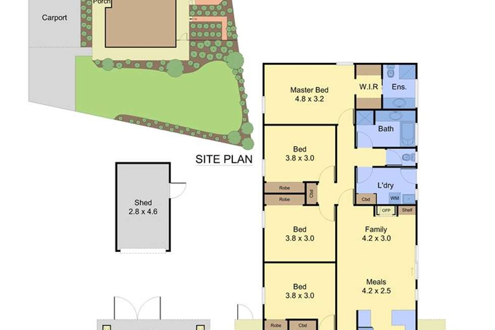 Floorplan of Homely house listing, 3 Explorers Ct, Vermont South VIC 3133