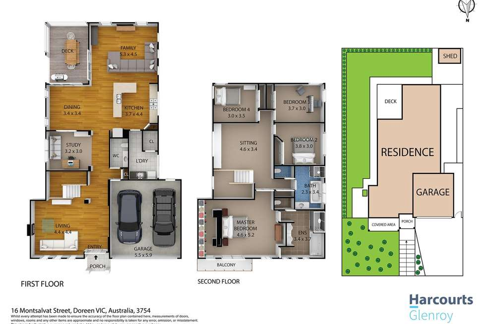 Floorplan of Homely house listing, 16 Montsalvat Street, Doreen VIC 3754