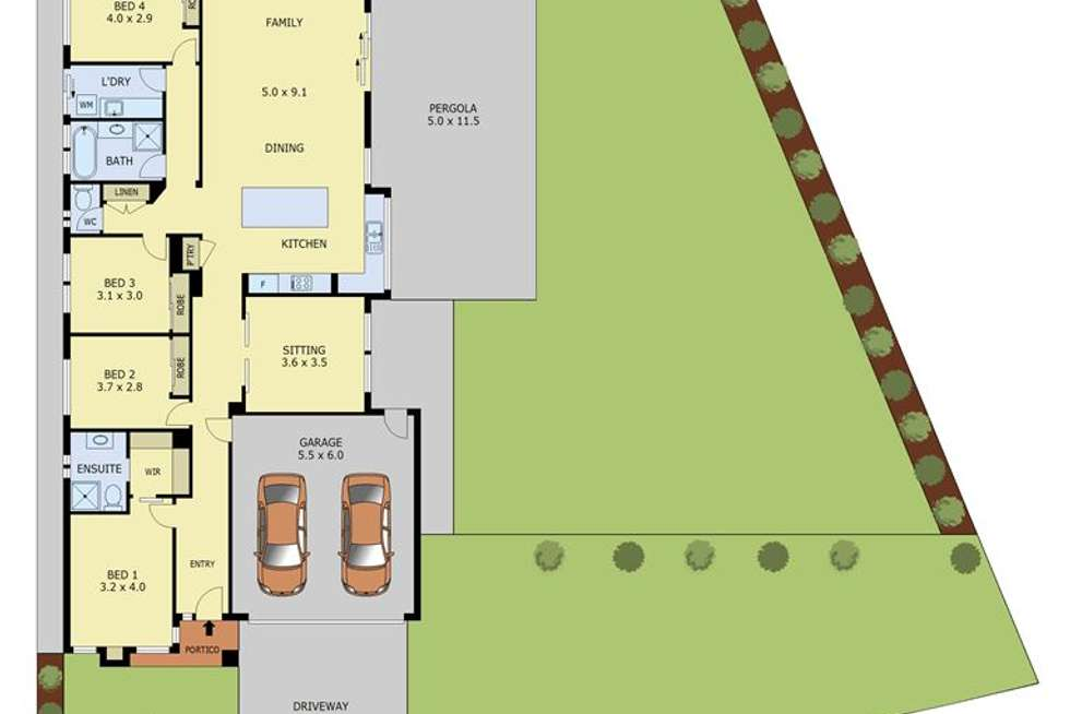 Floorplan of Homely house listing, 81 Davey Drive, Trafalgar VIC 3824