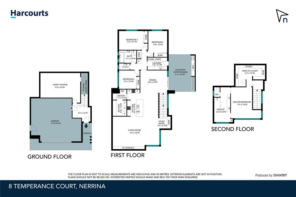 Floorplan of Homely house listing, 8 Temperance Court, Nerrina VIC 3350