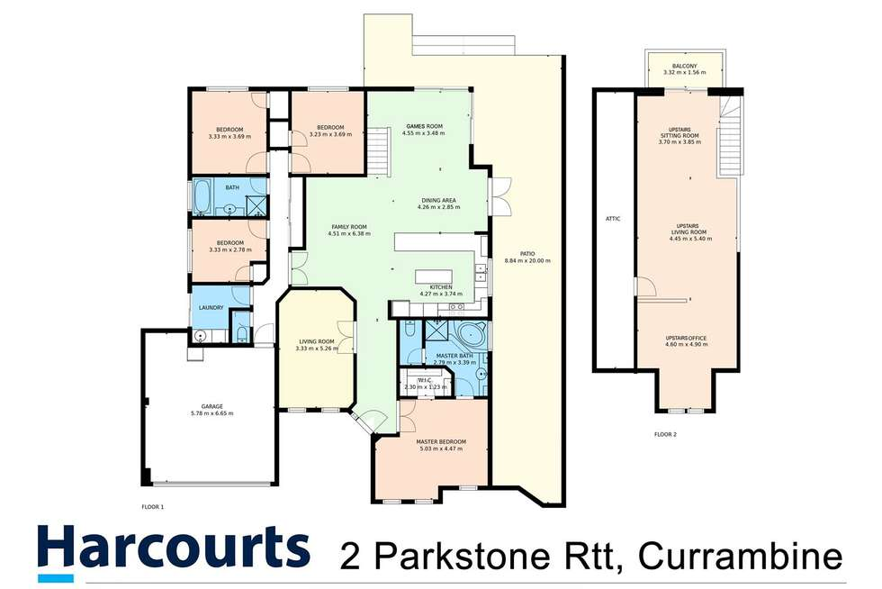 Floorplan of Homely house listing, 2 Parkstone Retreat, Currambine WA 6028