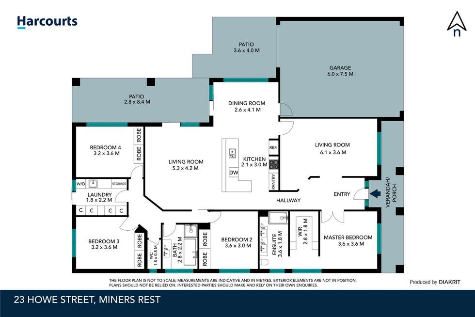 Floorplan of Homely house listing, 23 Howe Street, Miners Rest VIC 3352