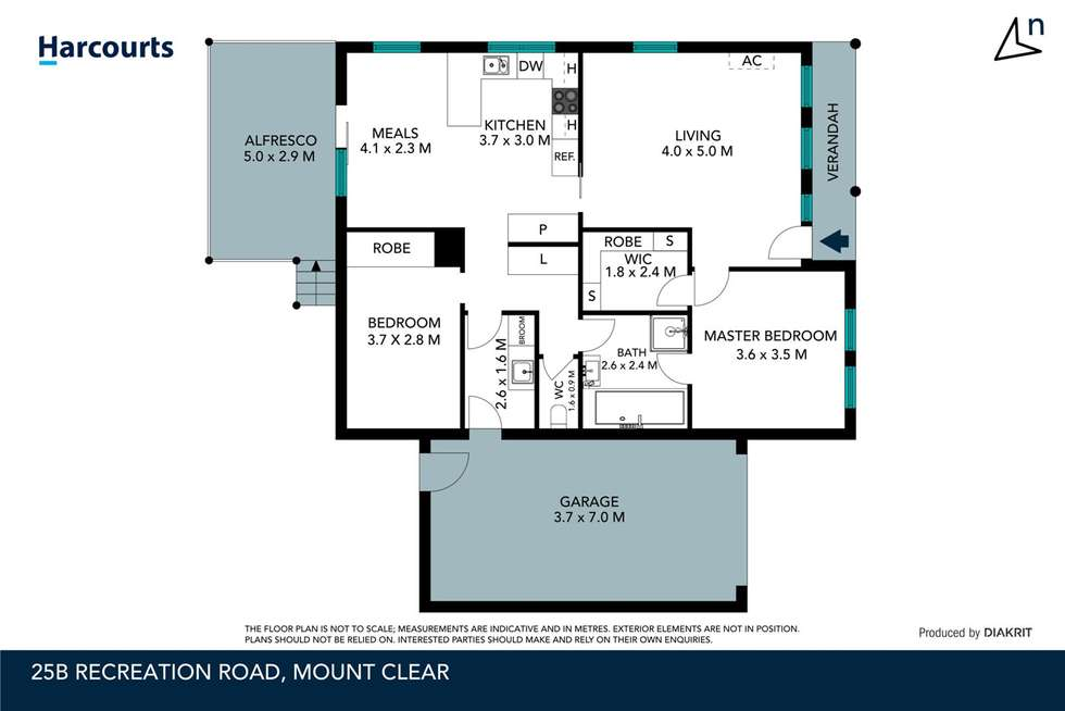 Floorplan of Homely unit listing, 25b Recreation Road, Mount Clear VIC 3350