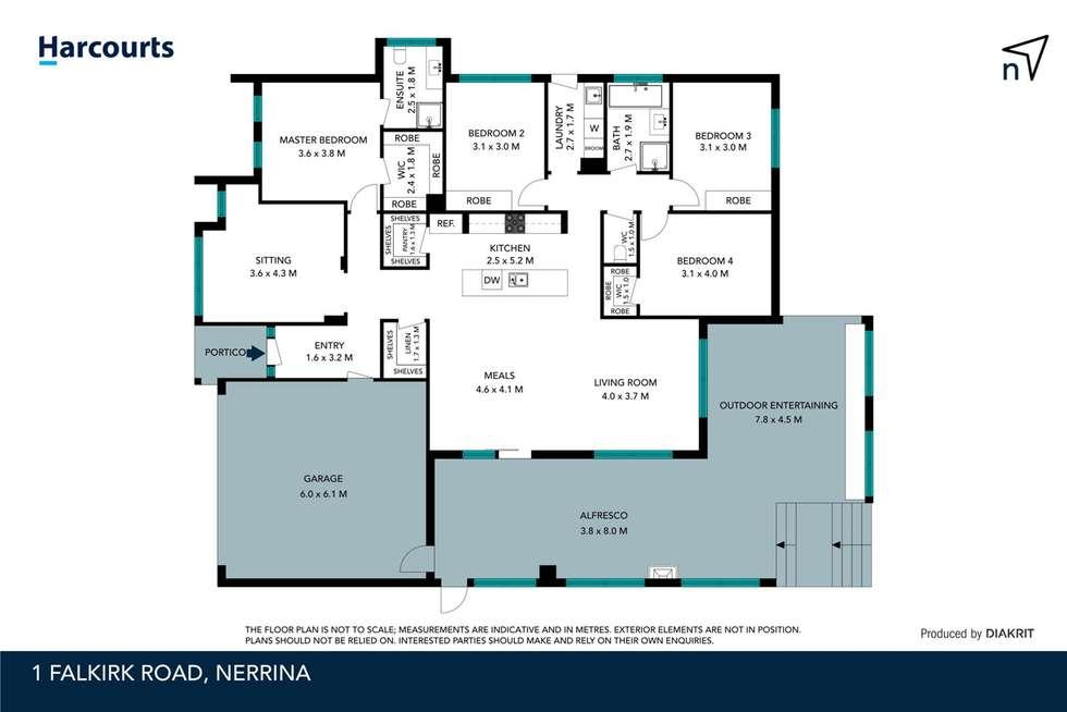 Floorplan of Homely house listing, 1 Falkirk Road, Nerrina VIC 3350