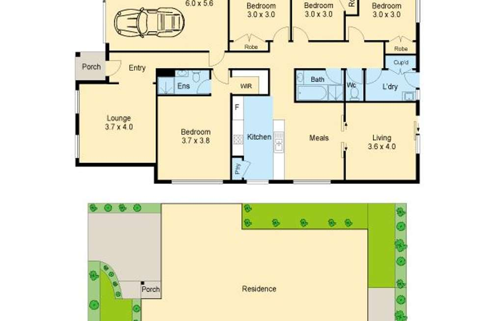 Floorplan of Homely house listing, 6 Wattlewoods Place, Carrum Downs VIC 3201