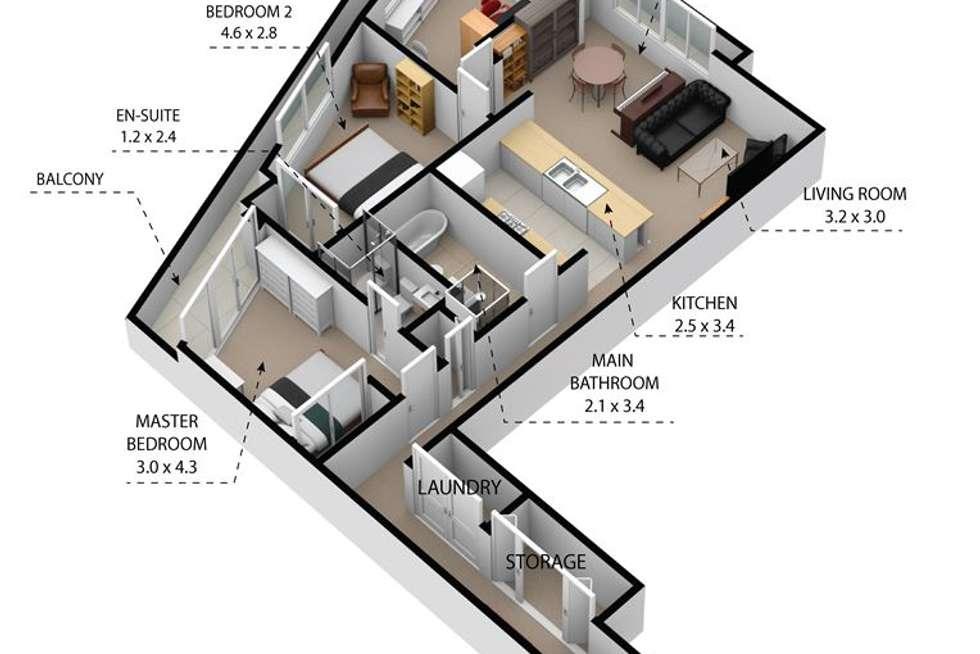 Floorplan of Homely unit listing, 40/18-22 Broughton Street, Campbelltown NSW 2560