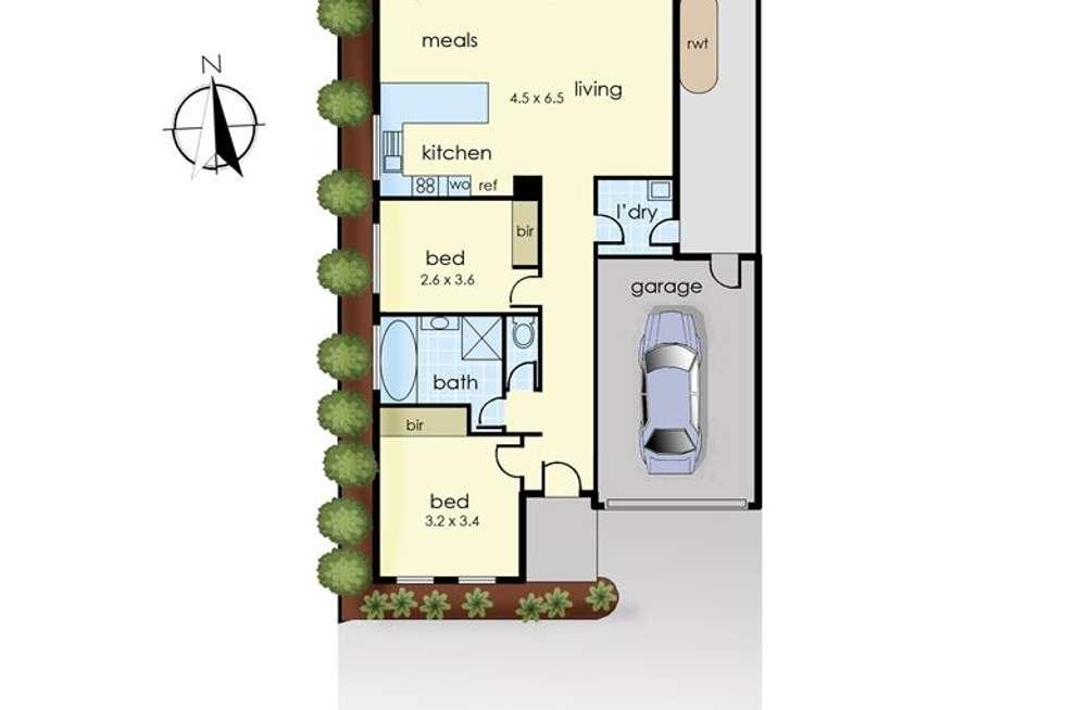 Floorplan of Homely unit listing, 5/2 Portsmouth Road, Bittern VIC 3918