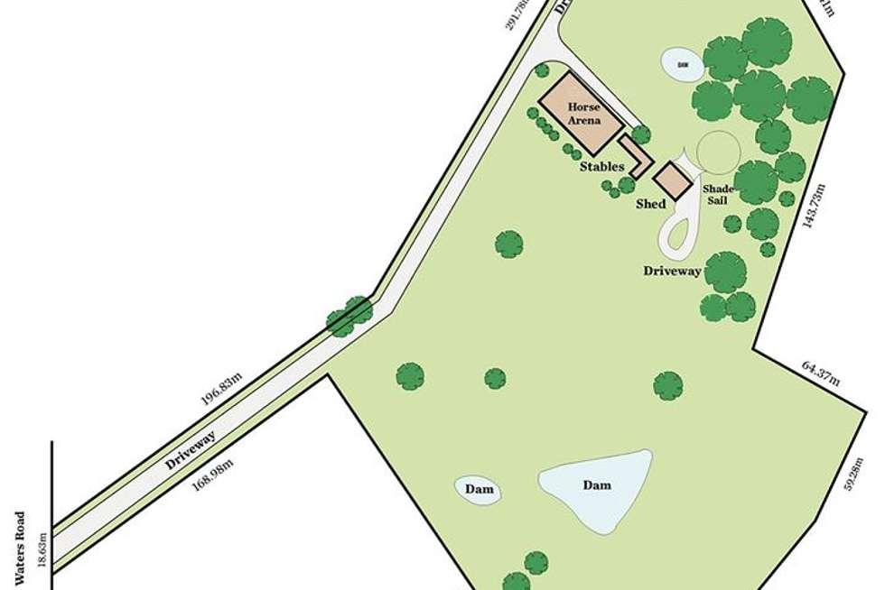 Floorplan of Homely acreageSemiRural listing, 42 Waters Road, Mount George SA 5155