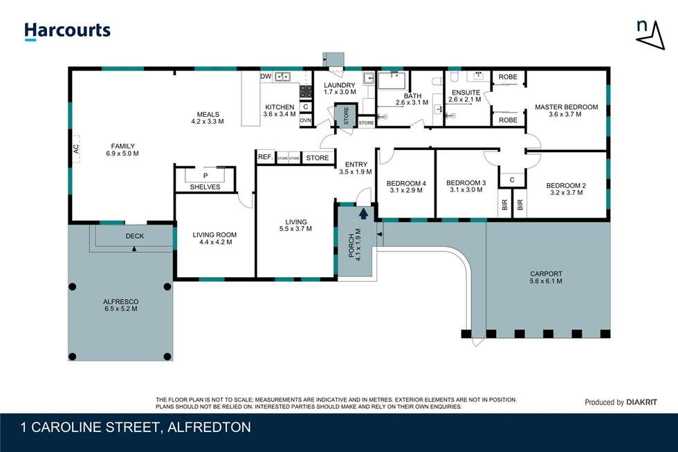 Floorplan of Homely house listing, 1 Caroline Street, Alfredton VIC 3350