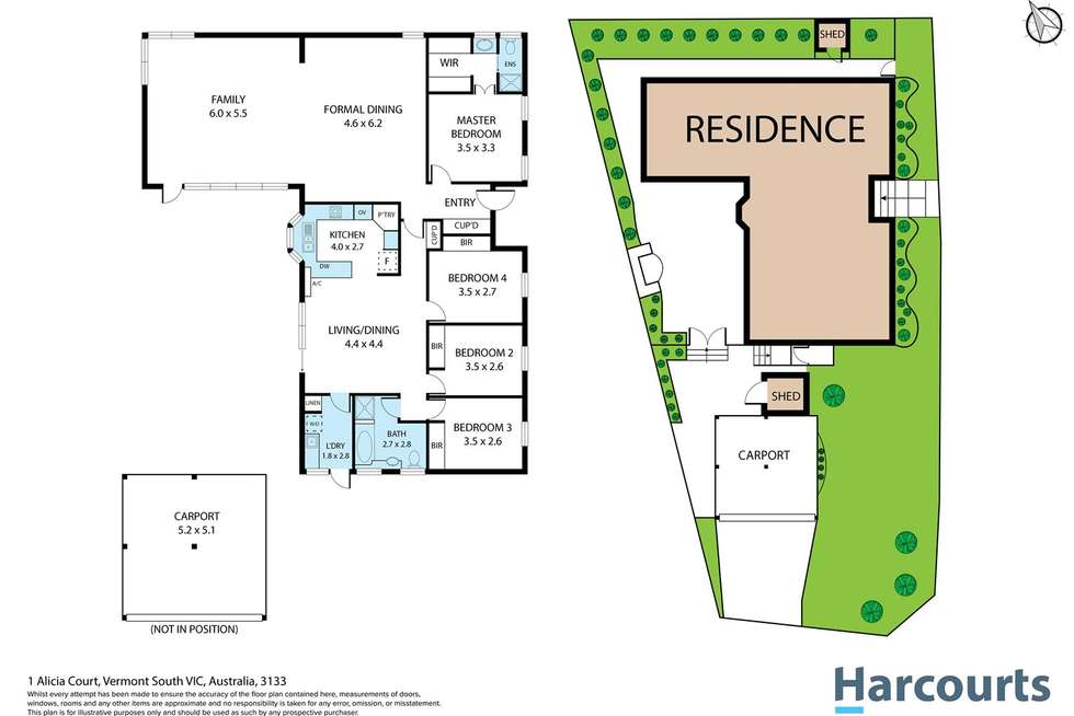 Floorplan of Homely house listing, 1 Alicia Court, Vermont South VIC 3133