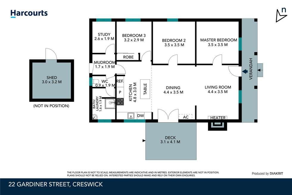 Floorplan of Homely house listing, 22 Gardiner Street, Creswick VIC 3363