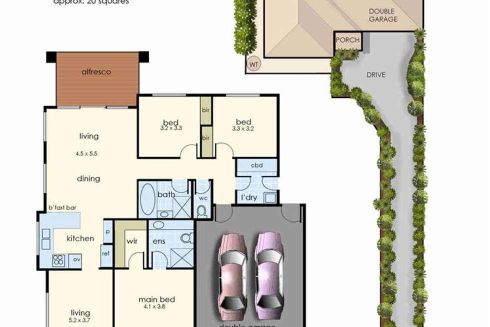 Floorplan of Homely house listing, 2/11 Olivia Way, Hastings VIC 3915