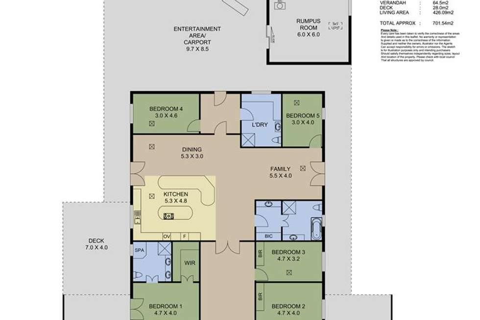 Floorplan of Homely house listing, 7 Jennings Drive, Ashton SA 5137