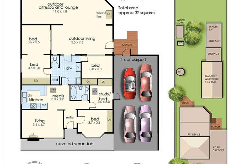 Floorplan of Homely house listing, 21 Park Road, Crib Point VIC 3919