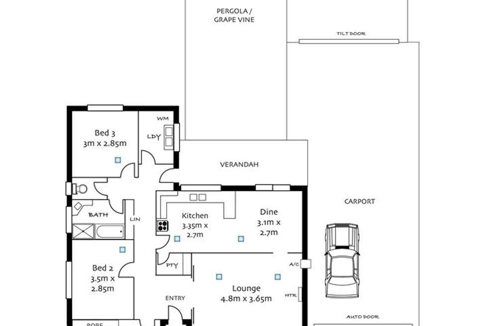 Floorplan of Homely house listing, 19 Beaufort Crescent, Felixstow SA 5070