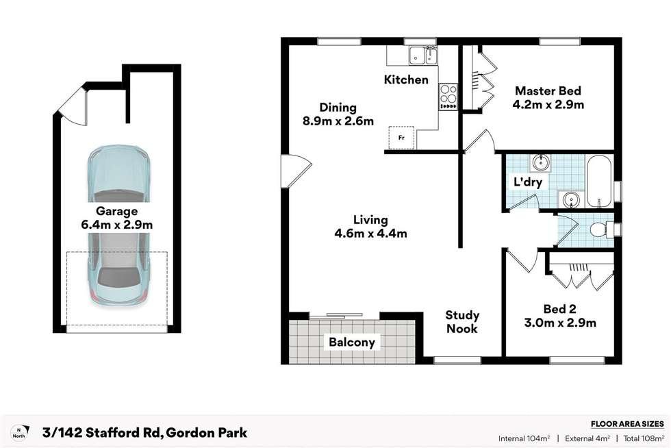 Floorplan of Homely unit listing, 3/7 Beaconsfield Terrace, Gordon Park QLD 4031