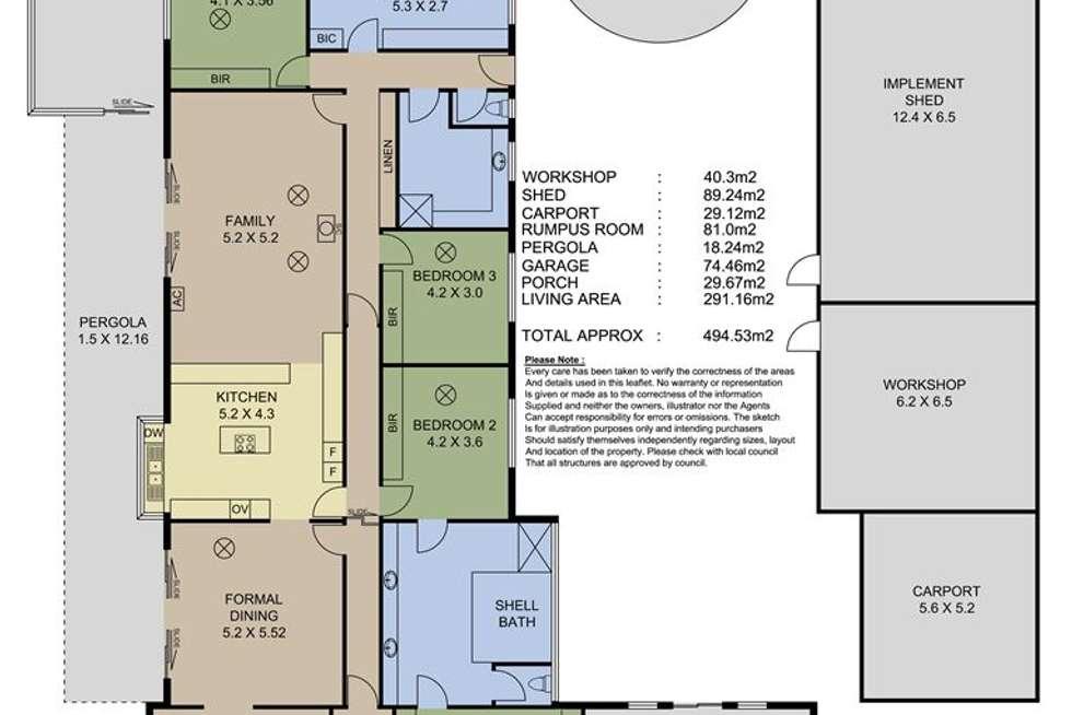 Floorplan of Homely acreageSemiRural listing, 11 Oinns Road, Echunga SA 5153