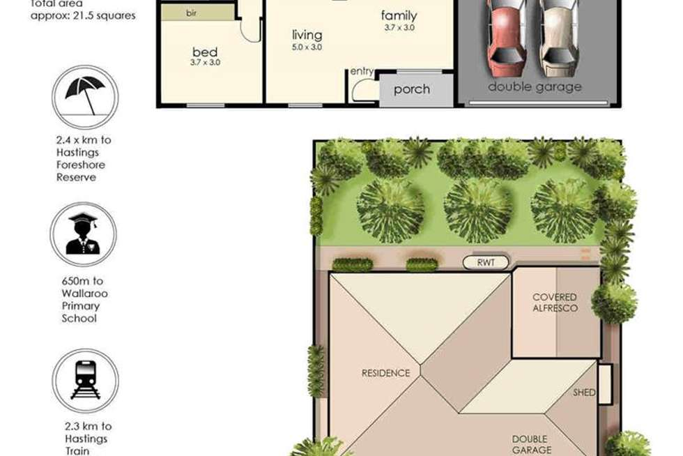 Floorplan of Homely house listing, 4 Victor Drive, Hastings VIC 3915