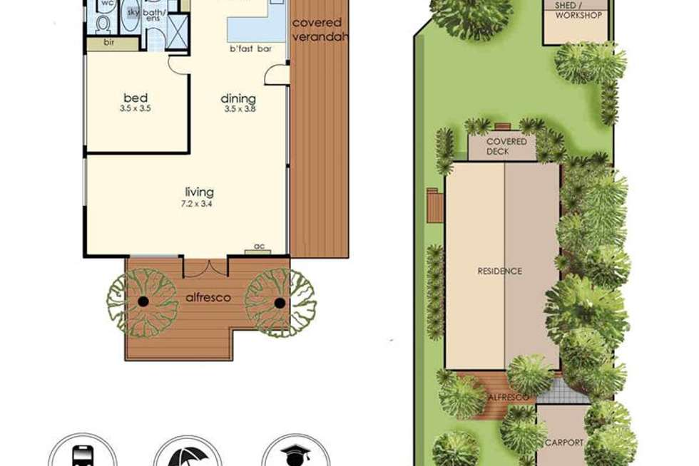 Floorplan of Homely house listing, 77 Creswell Street, Crib Point VIC 3919