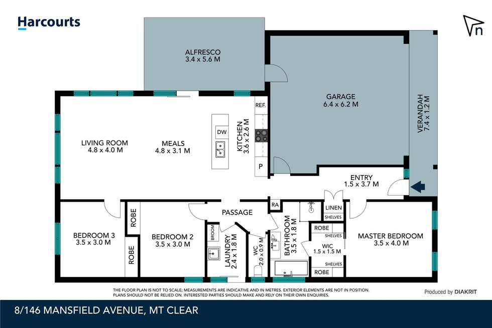 Floorplan of Homely townhouse listing, 8/146 Mansfield Avenue, Mount Clear VIC 3350