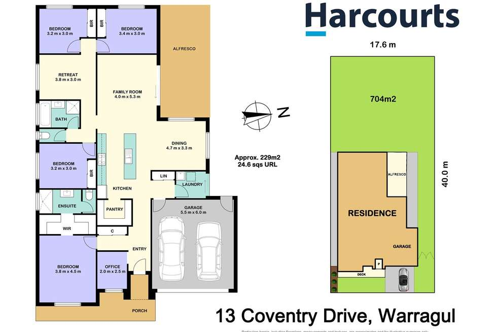 Floorplan of Homely house listing, 13 Coventry Drive, Warragul VIC 3820
