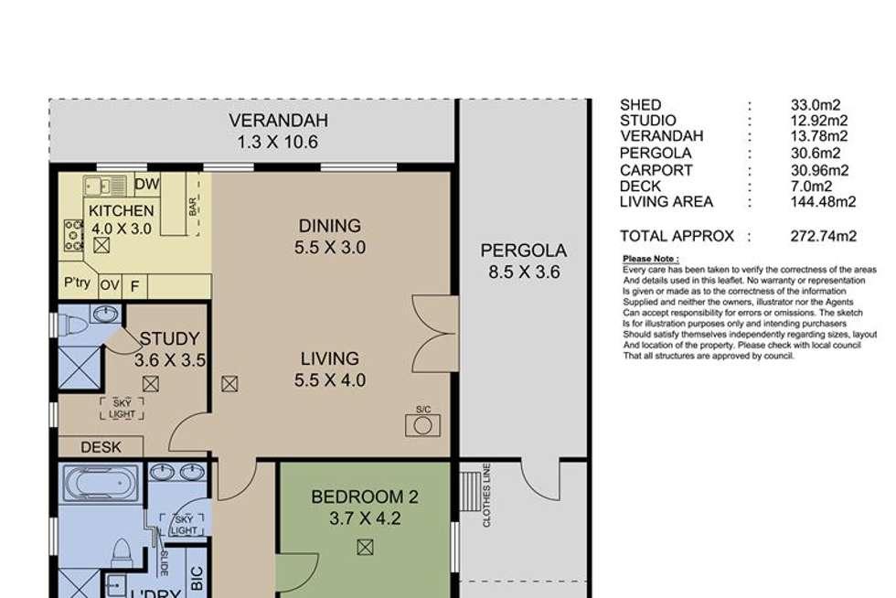 Floorplan of Homely house listing, 11 Cameron Road, Mount Barker SA 5251