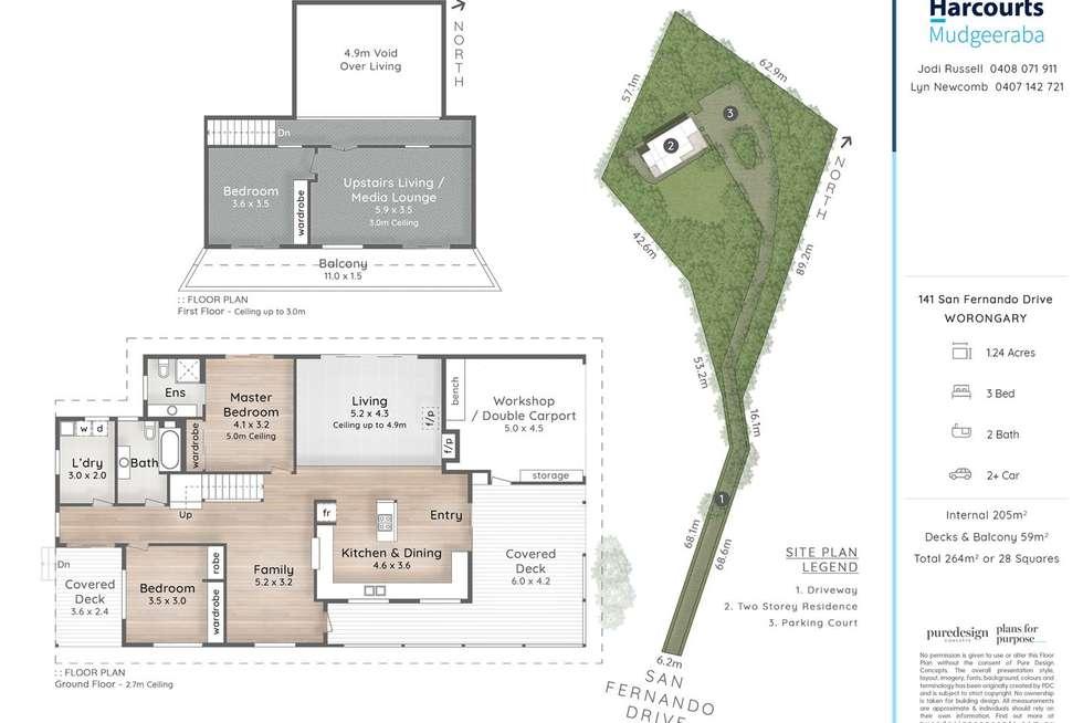 Floorplan of Homely house listing, 141 San Fernando Drive, Worongary QLD 4213