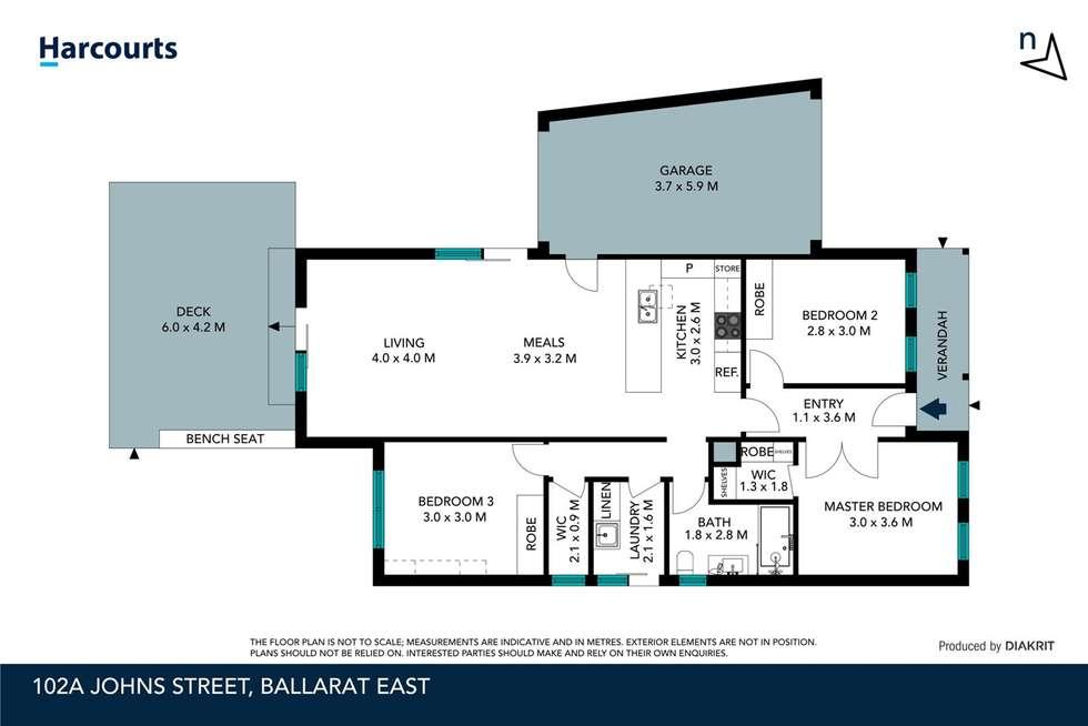 Floorplan of Homely house listing, 102a Johns Street, Ballarat East VIC 3350