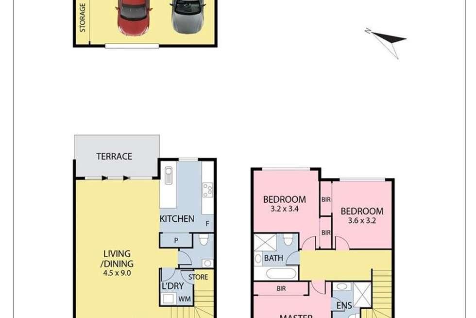 Floorplan of Homely townhouse listing, 117 Saltlake Boulevard, Wollert VIC 3750