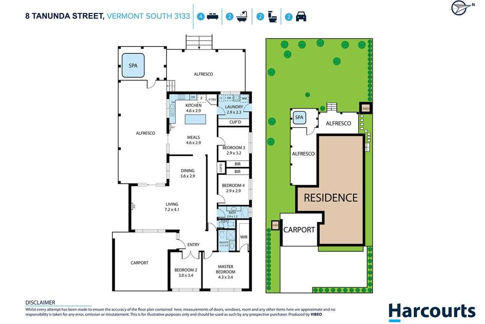 Floorplan of Homely house listing, 8 Tanunda Street, Vermont South VIC 3133