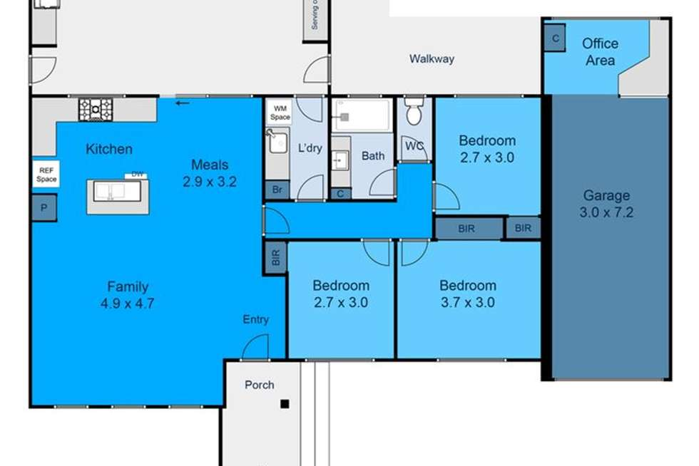 Floorplan of Homely house listing, 8 Trentham Court, Thomastown VIC 3074
