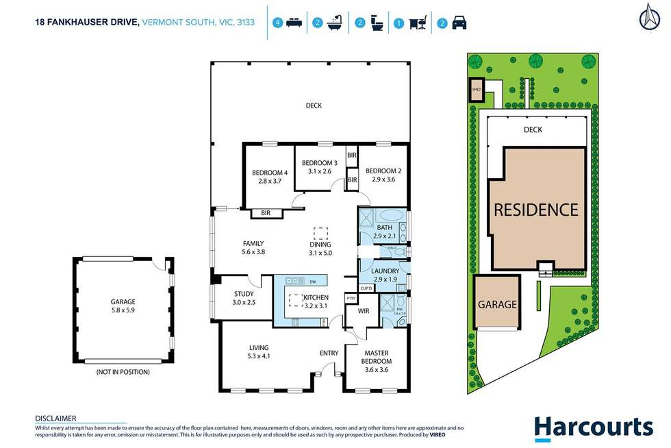 Floorplan of Homely house listing, 18 Fankhauser Drive, Vermont South VIC 3133