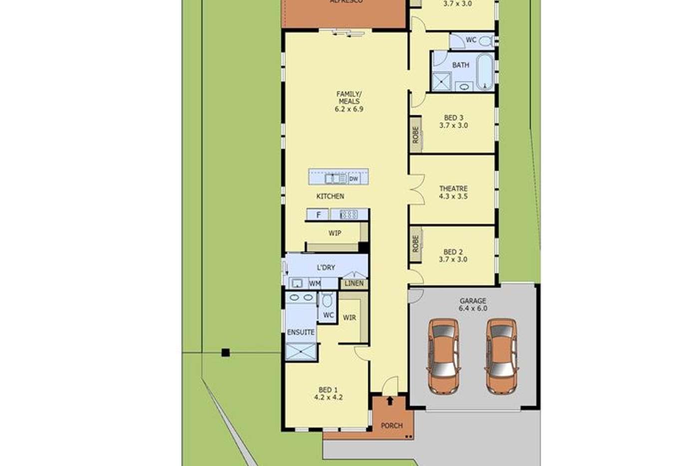 Floorplan of Homely house listing, 19 Downton Street, Warragul VIC 3820