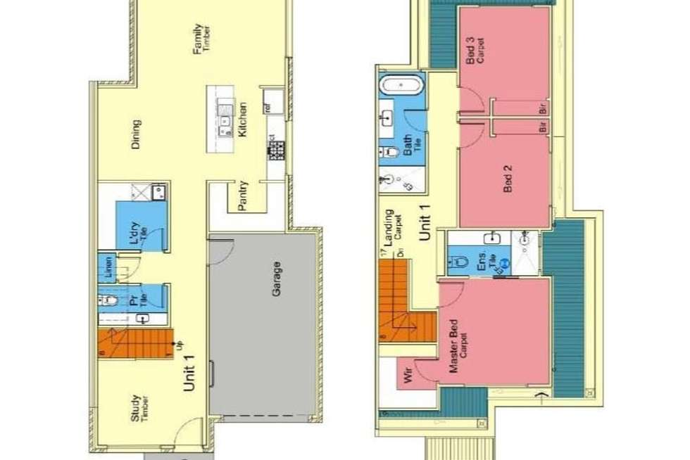 Floorplan of Homely townhouse listing, 1/62 Brunning Rise, Wollert VIC 3750