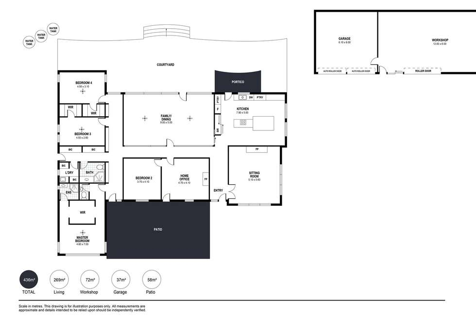 Floorplan of Homely lifestyle listing, 629a Sawpit Road, Hindmarsh Valley SA 5211