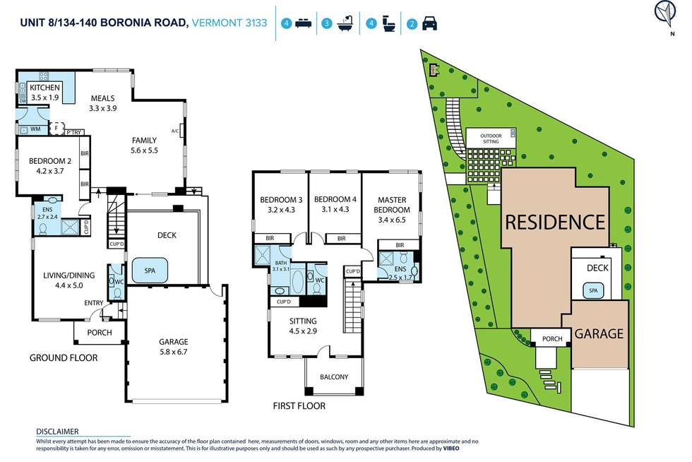Floorplan of Homely townhouse listing, 8/134-140 Boronia Road, Vermont VIC 3133