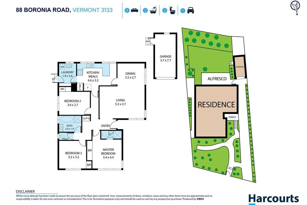 Floorplan of Homely house listing, 88 Boronia Road, Vermont VIC 3133