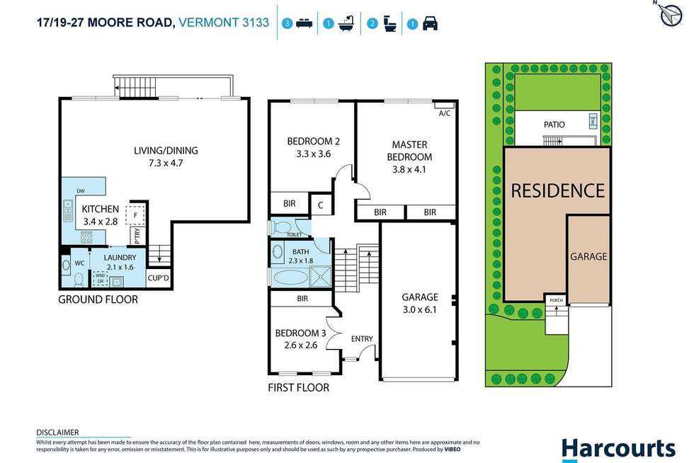 Floorplan of Homely townhouse listing, 17/19-27 Moore Road, Vermont VIC 3133