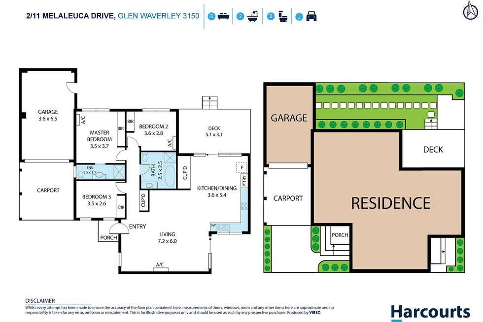 Floorplan of Homely unit listing, 2/11 Melaleuca Drive, Glen Waverley VIC 3150
