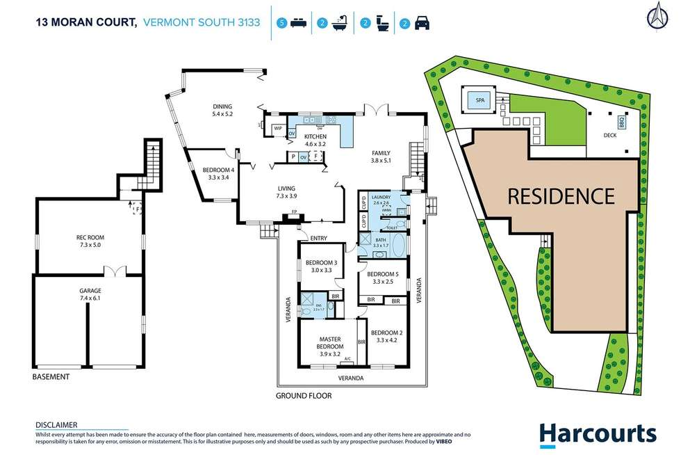 Floorplan of Homely house listing, 13 Moran Court, Vermont South VIC 3133