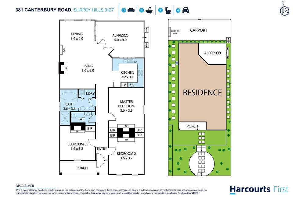 Floorplan of Homely house listing, 381 Canterbury Road, Surrey Hills VIC 3127