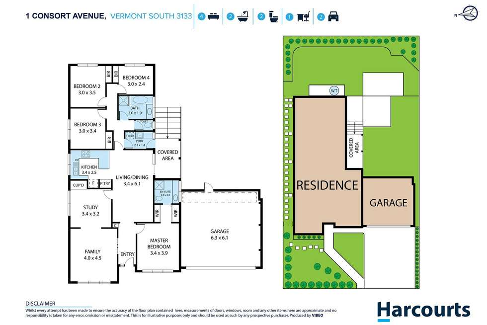 Floorplan of Homely house listing, 1 Consort Avenue, Vermont South VIC 3133