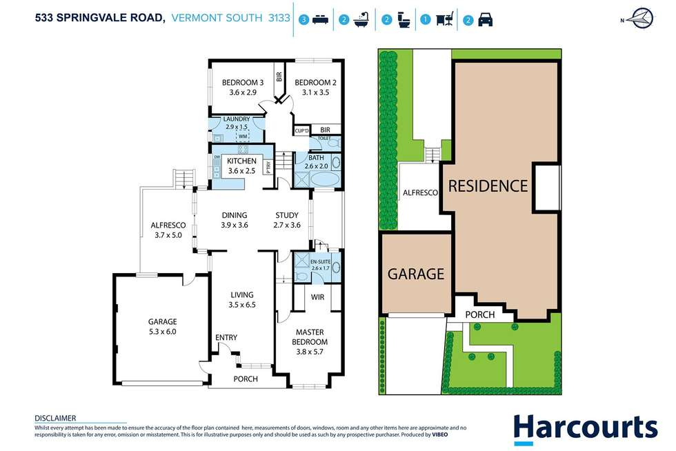 Floorplan of Homely house listing, 533 Springvale Road, Vermont South VIC 3133