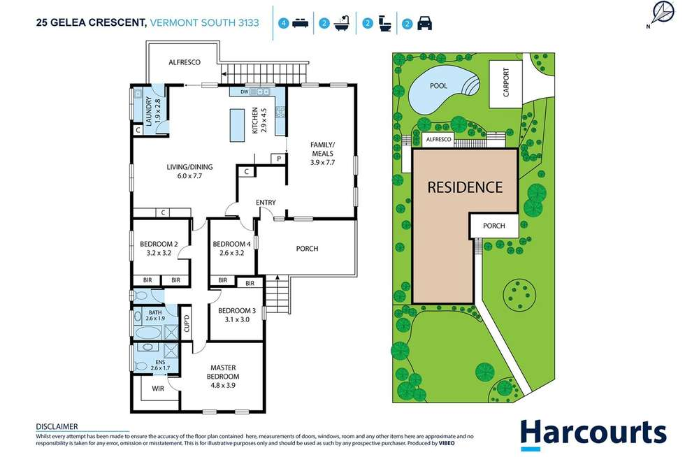 Floorplan of Homely house listing, 25 Gelea Crescent, Vermont South VIC 3133
