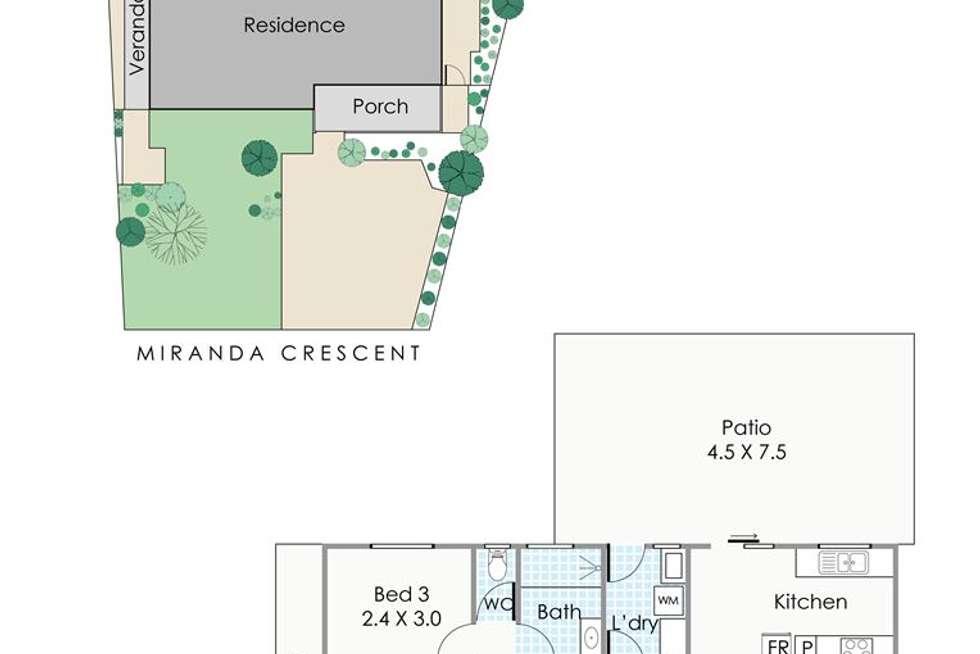 Floorplan of Homely house listing, 3 Miranda Crescent, Coolbellup WA 6163
