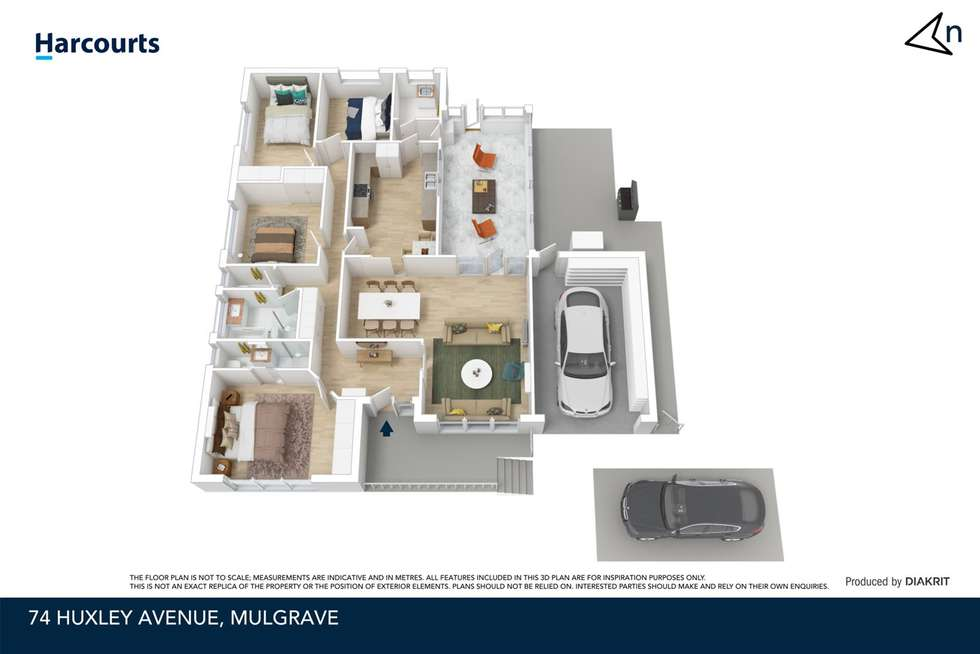 Floorplan of Homely house listing, 74 Huxley Avenue, Mulgrave VIC 3170