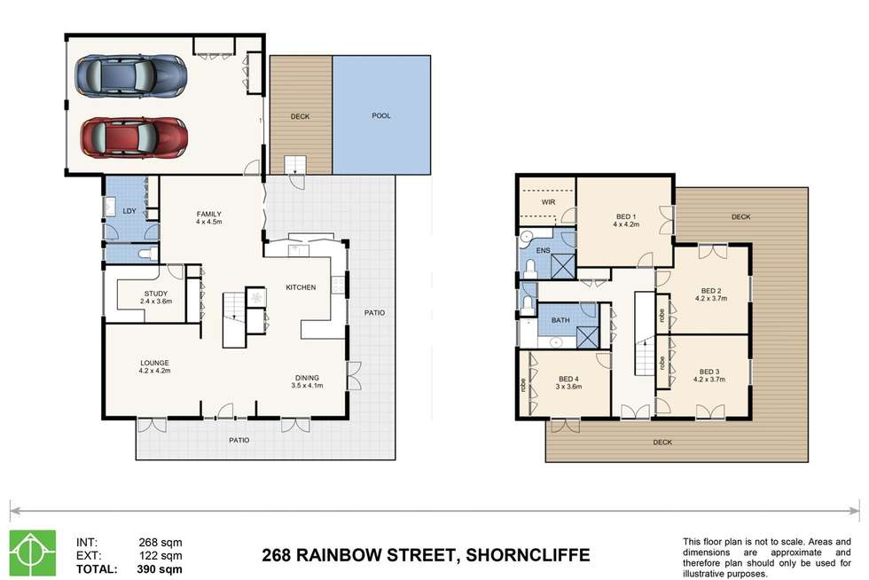 Floorplan of Homely house listing, 268 Rainbow Street, Shorncliffe QLD 4017
