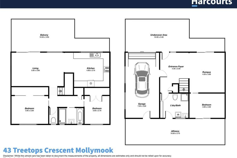 Floorplan of Homely house listing, 43 Treetops Crescent, Mollymook Beach NSW 2539
