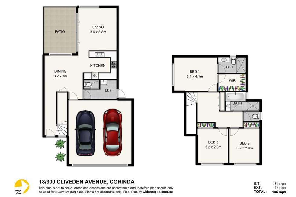 Floorplan of Homely townhouse listing, 18/300 Cliveden Avenue, Corinda QLD 4075