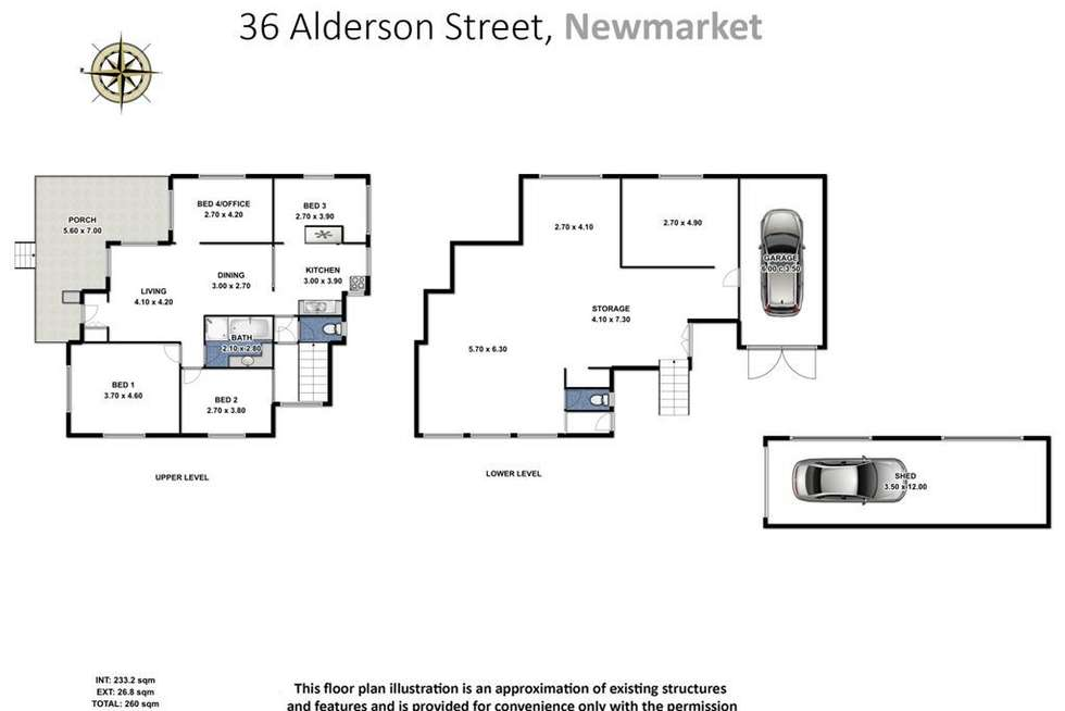 Floorplan of Homely house listing, 36 Alderson Street, Newmarket QLD 4051